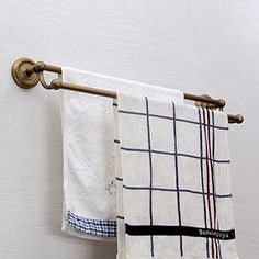 vintage style wall mount lavatory bath shower accessories 24 inch brass double bars towel rack