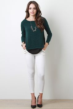 Soft Knit and Chiffon Top #urbanog #holidaytrends