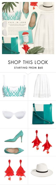 """..."" by monazor ❤ liked on Polyvore featuring Mara Hoffman, Superdry, Elizabeth and James, Vera Bradley, Valentina, Oscar de la Renta, Janessa Leone, summerstyle, womenfashion and tropicalprints"