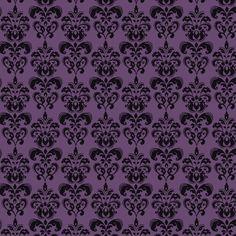 Odd Affinity For Purple Damask Wallpaper