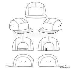 Camp cap White 2018 vector illustration flat sketches template
