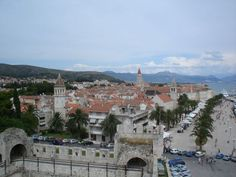 View of the Historic City of Trogir from the castle - Trogir, Split-Dalmatia County, Croatia