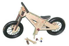 Prototype of Blinkenbike basic - model WildDuck with kickstand #balance bike #prebike
