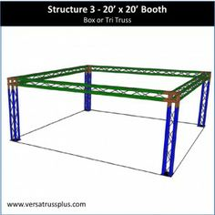 20 x 20 trade show booth kits. Our 20 x 20 exhibit kit comes with all of the truss components and hardware to erect a complete 20 x 20 display booth. Our lightweight aluminum truss 20 x 20 booth kit is economical to purchase, designed for longevity and is completely modular in design allowing you to increase the size of your 20 x 20 exhibit kit at any time.