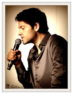 Misha Collins - I would be perfectly okay with being that microphone.