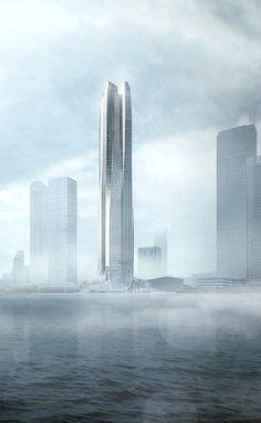 Hengqin International Financial Center, Zuhai-China, completion-2017, designer-Andy Wen, Keith Griffiths | Aedas