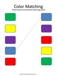Color And Match Kindergarten Worksheet Color Worksheets For Preschool, Matching Worksheets, Preschool Colors, Free Preschool, Kindergarten Worksheets, Printable Worksheets, Coloring Worksheets, Easter Worksheets, Teaching Colors