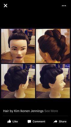 Bridal updo by Kim Ikonen Jennings www.kimikonen.com #braid #updo