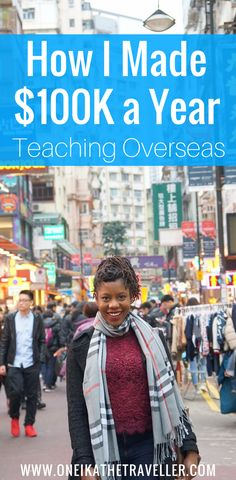 Teaching overseas can be very lucrative-- I earned a six figure yearly salary teaching abroad. Teaching Overseas, Teaching Jobs, Travel Jobs, Packing List For Travel, Travel Ideas, Overseas Travel, Travel Abroad, Ways To Earn Money, Way To Make Money