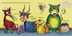 The Monster Machine Pitcture book by Nicola L Robinson Monsters!