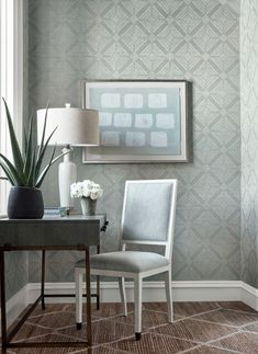 Love this new wallpaper from the Modern Resource Thibaut. & Thibaut - Wallpaper and Fabric | SmartLooks has this available ...