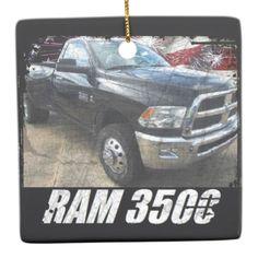 2014 Ram 3500 Regular Cab SLT Dually Ceramic Ornament