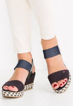 7eefb73f75d87 ELBA - Platform sandals - dark blue   Zalando.co.uk 🛒. Tommy Hilfiger.