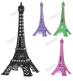 http://www.tinydeal.com/es/creative-eiffel-tower-style-ornament-with-rhinestones-p-66233.html: Creative Eiffel Tower Style Ornament Decoration Artwork Craft Gift with Rhinestones - Small Size