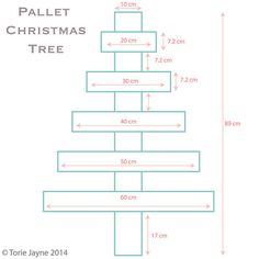 Pallet Christmas tree diagram