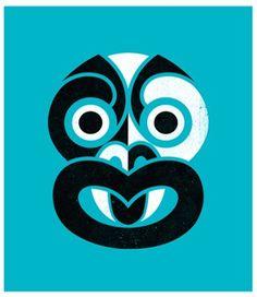 Phantom Tiki (Teal Blue) by Greg Straight for Sale - New Zealand Art Prints