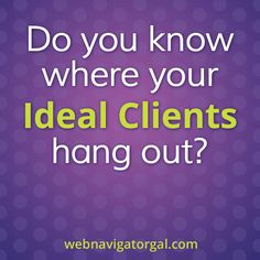 When guest blogging, really do the research to find where your ideal clients are hanging out. If you need help, let me know! http://www.webnavigatorgal.com/online-marketing-help/