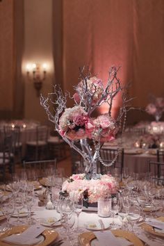 25 Breathtaking Wedding Centerpieces in 2016 - Centerpieces are among the most important items that are required for decorating your wedding. They are not only used for decorating tables, but they . Unique Wedding Centerpieces, Branch Centerpieces, Unique Weddings, Centerpiece Ideas, Manzanita Centerpiece, Floral Centerpieces, White Branch Centerpiece, Wedding Table, Our Wedding