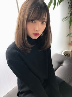 Japanese Haircut, Japanese Hairstyle, Japanese Beauty, Asian Beauty, Female Pose Reference, Hand Reference, Cute Japanese Girl, Female Poses, Pure Beauty