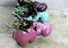 mint hippo planter by claylicious on Etsy, $29.00