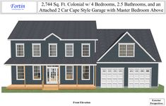 Colonial with attached garage home exteriors pinterest for Attached garage plans with bonus room
