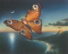 Soul Plexus by Vladimir Kush. My favorite painting. Vladimir Kush, Art Papillon, Art Visionnaire, Magritte, Butterfly Art, Butterflies, Visionary Art, Fine Art, Surreal Art