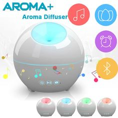 129.90$  Buy here - http://ali6ix.worldwells.pw/go.php?t=32689589721 - 2017 Newest Smart Aroma Air Humidifier With Music Speaker and LED Light Alarm Clock Aromatherapy Diffuser 24V 12W