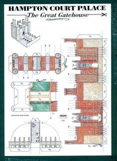 3-D Cut Out Postcard - Hampton Court Palace, Middlesex