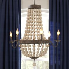Stunning and unique wooden chandelier