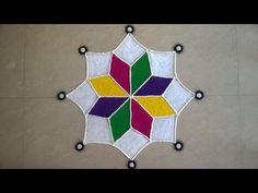 Free Hand Rangoli design by Savita - 2015 - #39 - YouTube