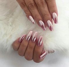 Pink Crome Nails