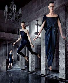 "Mackenzie Drazan and Carolin Loosen in ""Wangs Balenciaga""forHarpers Bazaar,August 2013"