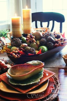 1000 images about wooden dough bowls on pinterest dough bowl christmas dinner tables and - Kitchen table centerpiece bowls ...