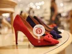 in-store pinterest tag on shoes in nordstrom