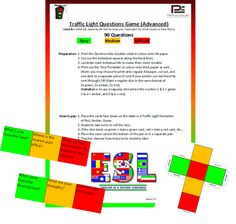 Traffic Light Game - ADVANCED QUESTIONS/ADULT ESL