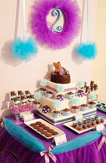 Tutus, Ties and Teddy Bears Party...Love the colors, not the bears!