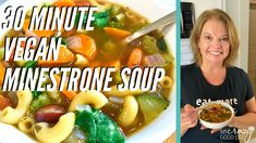 Could You Eat Pizza With Sort Two Diabetic Issues? You're Going To Love This Easy Recipe Healthy Minestrone Soup With More Than 1 Cup Of Veggies Per Servingperfect For Those Looking For A Vegan Soup Or Vegetarian Soup Vegetarian Minestrone Soup, Vegan Soup, Healthy Recipe Videos, Healthy Soup Recipes, Ww Recipes, Healthy Treats, Plats Weight Watchers, Weight Watchers Meals, Easy Weeknight Meals