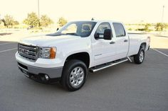 2013 Gmc Sierra3500HD SLE 4x4 SLE 4dr Crew Cab SRW Pickup 4 Doors White for sale in St george, UT Source: http://www.usedcarsgroup.com/used-gmc-for-sale-in-st_george-ut