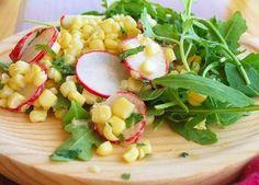 Corn, Cilantro, and Arugula Salad with Yogurt Dressing