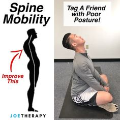 """5,373 Likes, 274 Comments - Joe Yoon, LMT (@joetherapy) on Instagram: """"Improve Spine Mobility While Sitting Down! - ☝️Lots of request for things you can do if you're…"""""""