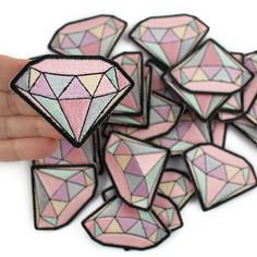 Diamond Patch - £2.72  https://www.etsy.com/uk/listing/228036197/diamond-gemstone-embroidered-patch-iron?ref=shop_home_active_1