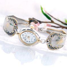 Vintage Spoon Watch 900 Silver Spoon Watch  Oval by mcfmiller, $65.00