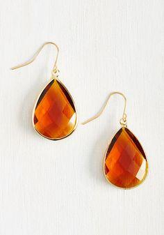 Receiving Drop Honors Earrings in Honey | Mod Retro Vintage Earrings | ModCloth.com