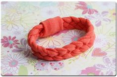 Tee shirt bracelet...to go with my t-shirt scarf...so many things to do with an old T