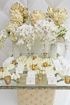 46 best gold white centerpieces images on pinterest table gold and white wedding floral junglespirit Choice Image