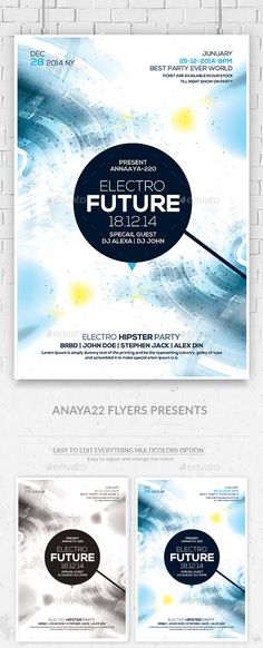 Fashion Night Psd Flyer Template  Party Events Flyer Template
