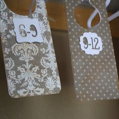 Baby clothes size dividers! brilliant for all the clothes you get from the baby shower.