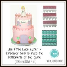 Making a castle cake: How to make the top decorative piece of the castle (battlement)
