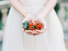 Photography: Winsome And Wright - winsomeandwright.com/   Read More on SMP: http://www.stylemepretty.com/2015/12/24/vibrant-autumn-inspired-bridal-session/