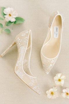 Most Wanted Wedding Shoes For Bride And Bridesmaids ★ wedding shoes lace ivory with heels liz fogarty shoes 24 Most Wanted Wedding Shoes For Party Bridal Wedding Shoes, White Wedding Shoes, Bridal Heels, Wedding Bridesmaids, Party Wedding, Wedding Rings, Cake Wedding, Vintage Bridal Shoes, Wedding Dresses